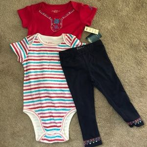 2NWT Lucky Brand 3 Piece Outfit